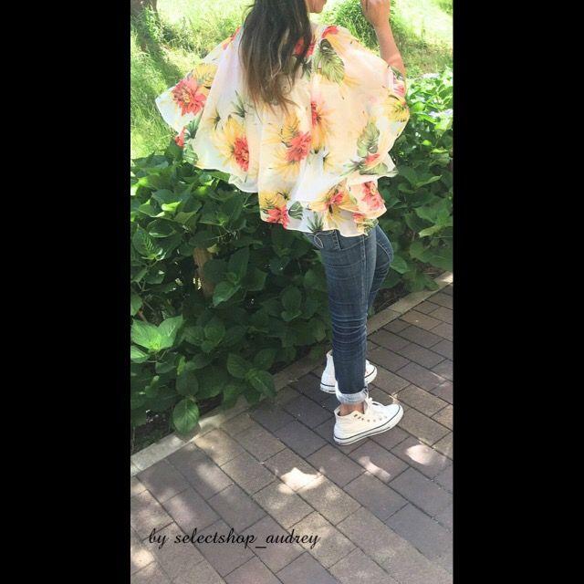 トレンド❣️ エアリー☆☆☆今からの季節に!! バタフライスリーブ→たっぷりフリル、ふわりと二の腕カバー☆☆☆ 人気のボタニカル♪シフォン素材、さらり! . 袖と背中の切り替えが、レース使い!!涼しげ♪ . #ハット #ダイソー  #バタフライスリーブ #audrey  #デニム  #マウジー  #コンバース . ガウチョ、スカート+お出かけに♪デニム、オールインワン+デイリーに♪ . 色違い(ピンク、ネイビー)あり。  同素材、スカーチョあり♪❣️ ウエストゴム、ウエスト切り替えデニム(ピンク、ネイビー、ホワイト)あり!! セットアップしても可愛い☆ . 詳細はホームページ→ページ選択→カートをご覧下さい😎💕 . http://www.at-ml.jp/72193/ . #おしゃれ #ママ #30 #40 #スニーカーコーデ #帽子コーデ #花柄 #綺麗になりたい #セレクトショップ #送料無料 #こだわり #アラサーコーデ #アラフォーコーデ #ボタニカル柄