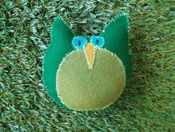 Plush Owl by LoveandSqualorCrafts on Etsy, $15.00
