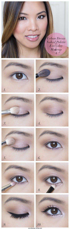 Everyday Makeup Tutorials for Brown Eyes | Gorgeous & Easy Eye Makeup Tutorials For Brown Eyes | Eye Shadow Tutorials at http://makeuptutorials.com/gorgeous-easy-eye-makeup-tutorials-brown-eyes-eye-shadow-tutorials/
