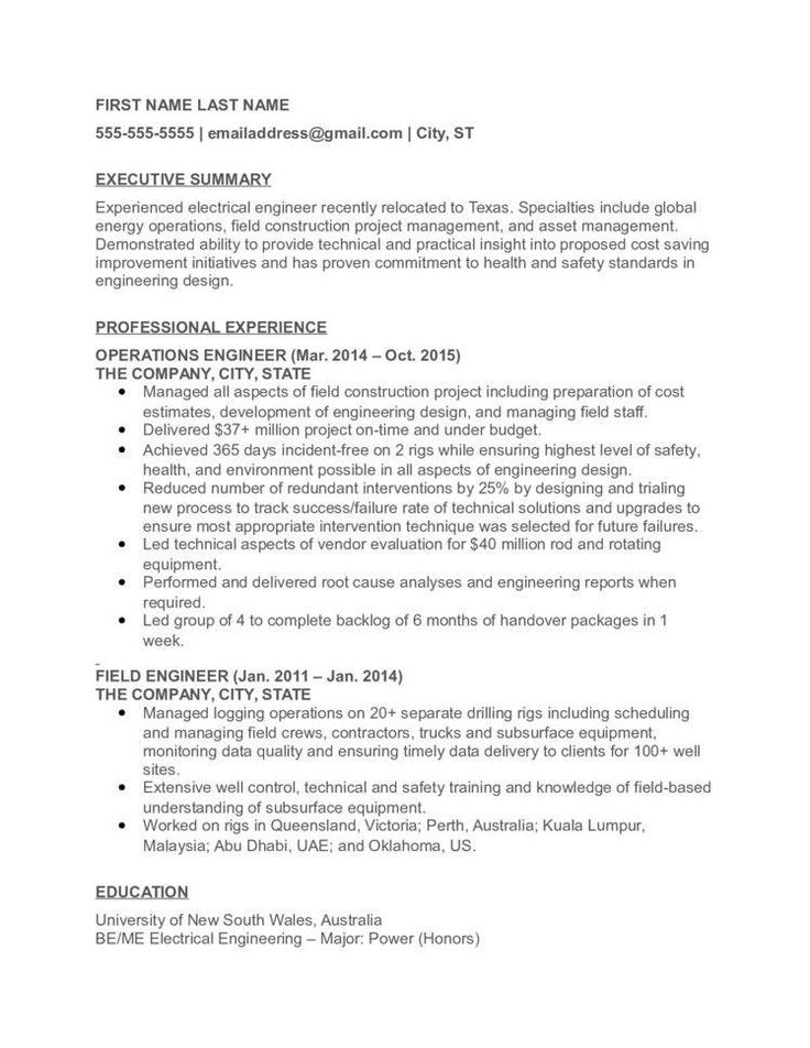 Electrical Engineering Resume Examples top Electrical