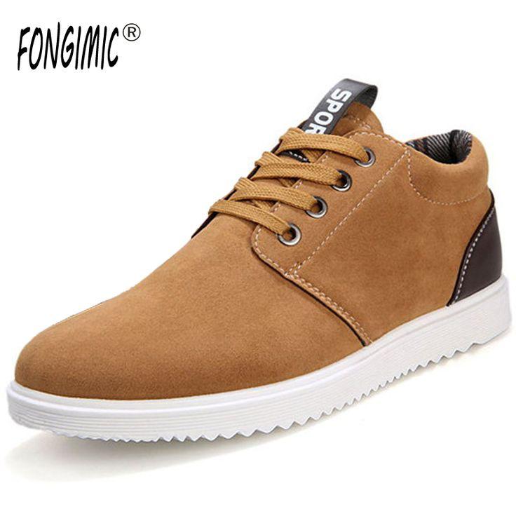 Les chaussures de loisirs Hiver Sneaker suédé hommes mode Style britannique Antidérapant Bottines hommes Plus Taille 39-44,gris,41