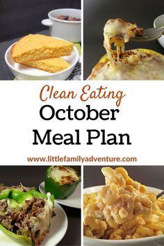 Gesundes Essen ist einfacher, wenn Sie einen Plan haben. In diesem Oktober Clean Eating Meal Pl …   – Winter Beauty Wonderland