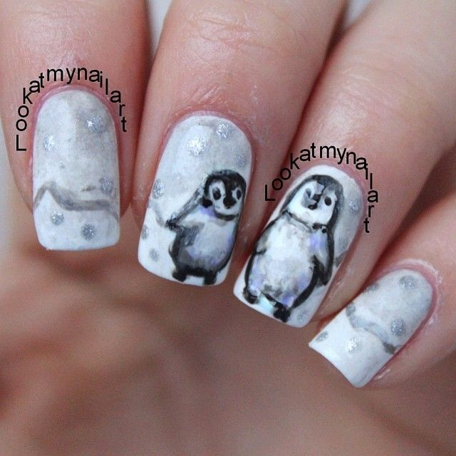 Penguin Nail Art Designs: 17 Best Images About Paint My With Penguins Fetish On