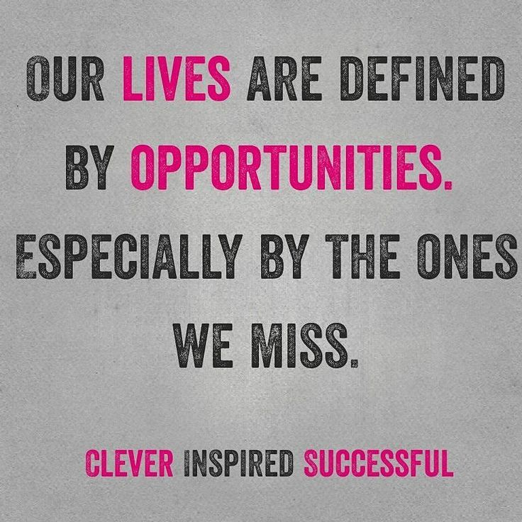 < Our lives are defined by #opportunities > . <  Especially by the ones we miss > . <  Never miss an #opportunity > Get updates and special offers on Instagram http://ift.tt/1W9wMhj Twitter http://twitter.com/Clever_Inspire Like and share our official Facebook page http://ift.tt/21xvvjy #moneyonline #comment #comments #commentbellow #cash #makemoney #makemoneyonline #makemoneyfromhome #makemoneyfast #makemoneynow #easymoney #easycash #getpaid #workfromhome #onlinemoney #workfromhomemom…
