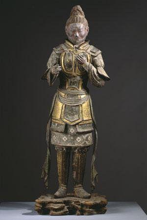 興福寺八部衆・畢婆迦羅像:大蛇ニシキヘビを神格化したという。経典に説く「摩睺羅伽」に相当するものとされるが定かでない。顎ひげを蓄え、他の八部衆に比べてやや老相である。