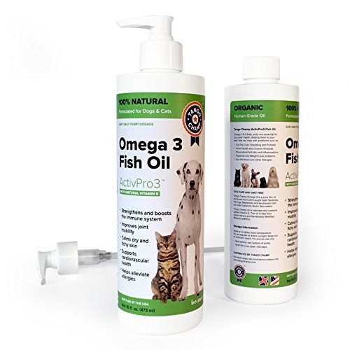 PURE OMEGA-3 FISH OIL for Dogs and Cats with added Vitamin-E - 100% Organic and Safe, Higher EPA DHA than Salmon Oil - Premium Supplement to Improve Joint Mobility, Immune System and Heart Health - 16 oz >>> Find out more about the great product at the image link.
