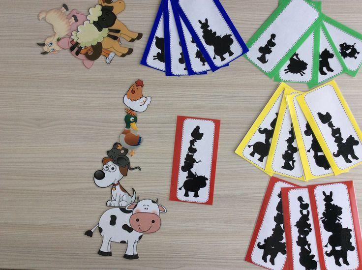 Stapeldieren schaduwopdrachten in 4 verschillende niveaus volgens het aantal dieren *liestr*
