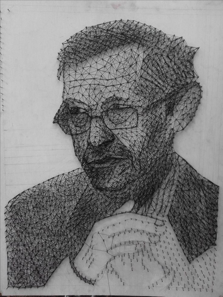 String Art portrait of Tiro