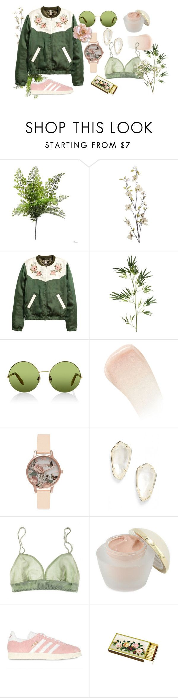 """Floral"" by ashenbones ❤ liked on Polyvore featuring Pier 1 Imports, Victoria, Victoria Beckham, By Terry, Olivia Burton, Kendra Scott, La Fée Verte, Elizabeth Arden, adidas Originals, Chandelier and floral"