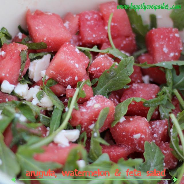 Arugula, Watermelon & Feta Salad one of my all time favorites from ...