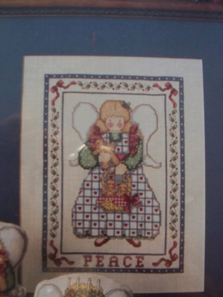 Christmas Angel of Peace Gingerbread OOP Magazine Cross Stitch PATTERN (W) | eBay