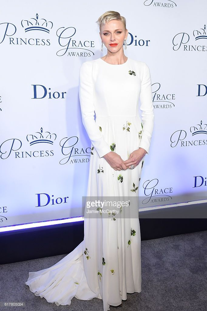 Her Serene Highness Princess Charlene of Monaco attends the 2016 Princess Grace awards gala at Cipriani 25 Broadway on October 24, 2016 in New York City.
