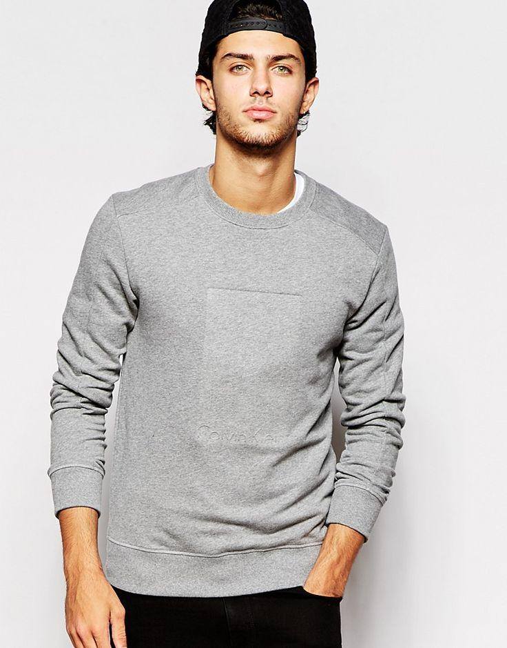 Calvin Klein Jeans Sweatshirt with Embossed Box Logo