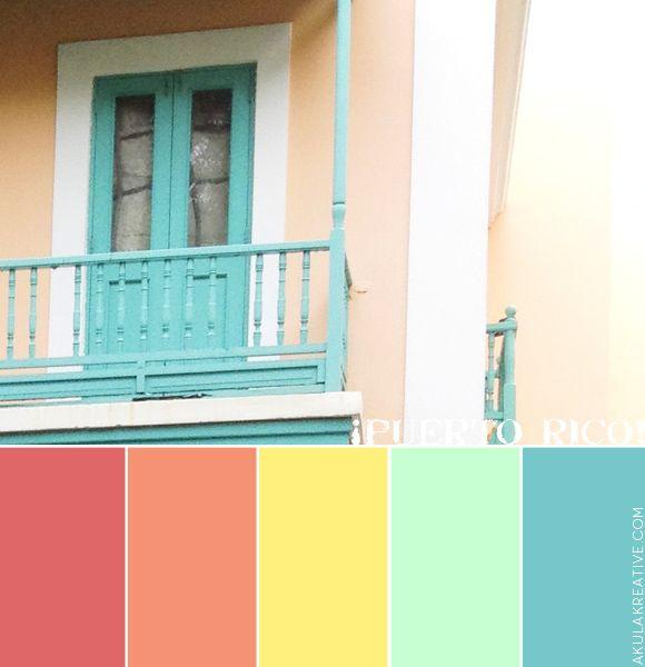 Puerto Rico Latin Tropical Color Palette