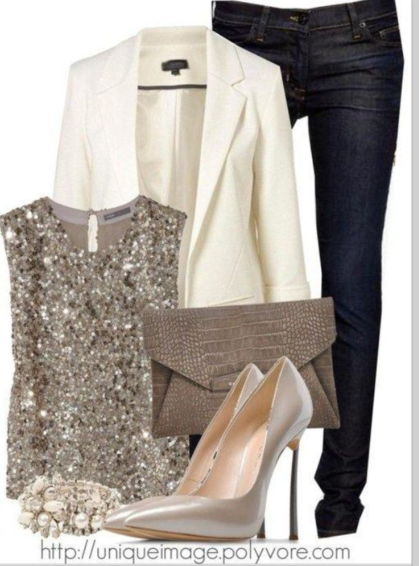 Love this winter party look.