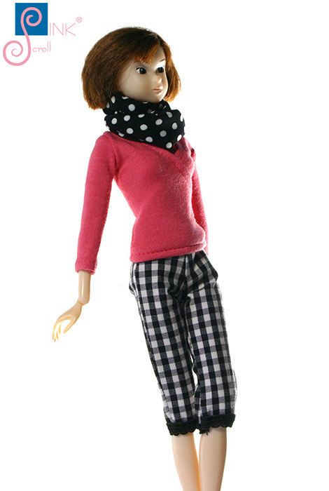 Momoko clothes pants: Athen by Pinkscroll on Etsy