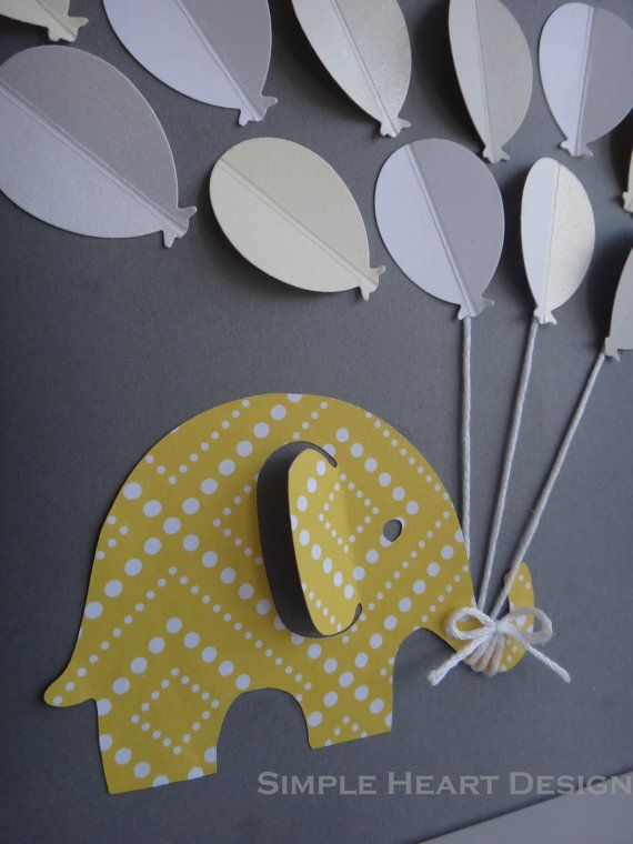 Baby Shower Guest Book Alternative 3D by SimpleHeartDesign