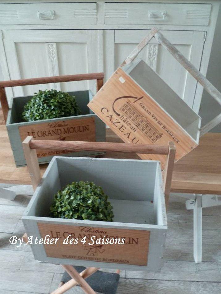 Caisses A Vin Revisitees Atelier Des 4 S En 2019 Deco
