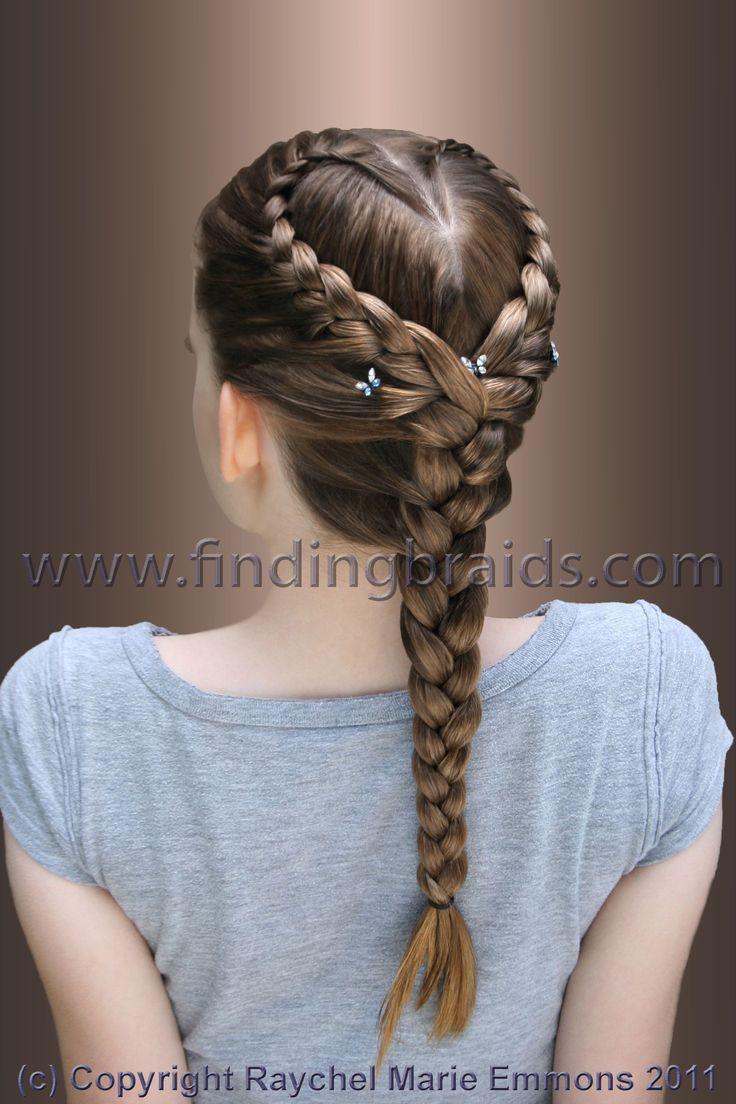 Schone Herz Braid Braid Dutt Herz Schone Frisuren Lange Haare Kinder Flechtfrisuren Geflochtene Frisuren