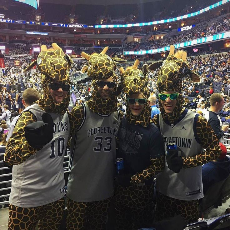 The #Georgetown #Hoyas superfans love dressing up like #Giraffes! Thanks @jpd54!  #SuperTailgate #tailgate #tailgating #win #letsgo #gameday #travel #adventure #stadium #party #sport #ESPN #jersey #sports #league #SportsNews #score #photooftheday #love #Basketball #NCAAB
