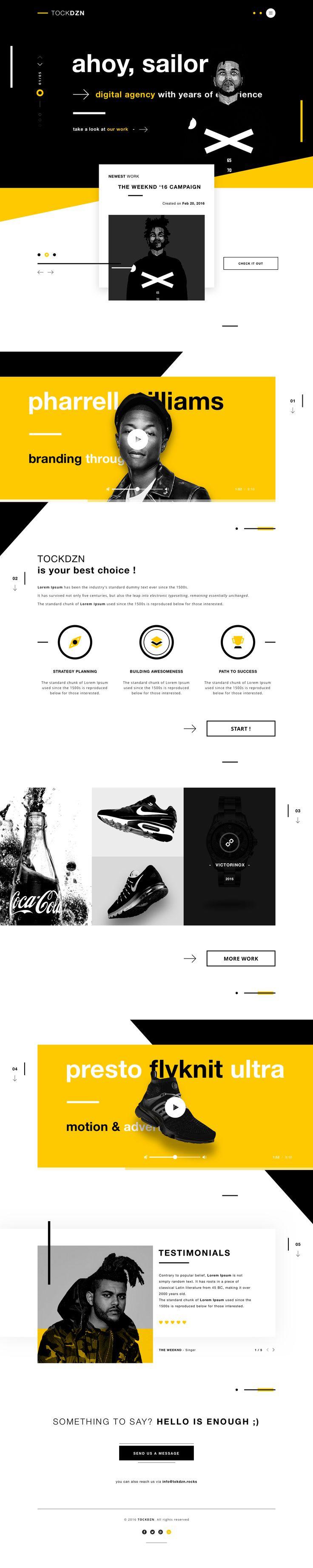 Tockdzn creative agency landing page website webdesign ui design interface dribbble full