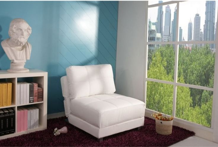 Convertible Chair Bed White Contemporary Wood Comfortable Adjustable Seat New #Doesnotapply #Contemporary #Furniture #Chair #White #Home