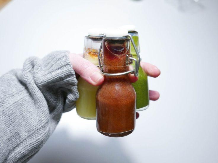 Start dagen eller rett før du legger deg med en frisk liten shot av innholdsrik juice.