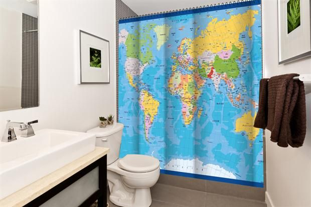 Cómo darle vida al cuarto de baño  Las cortinas personalizadas de Bonita Casa.