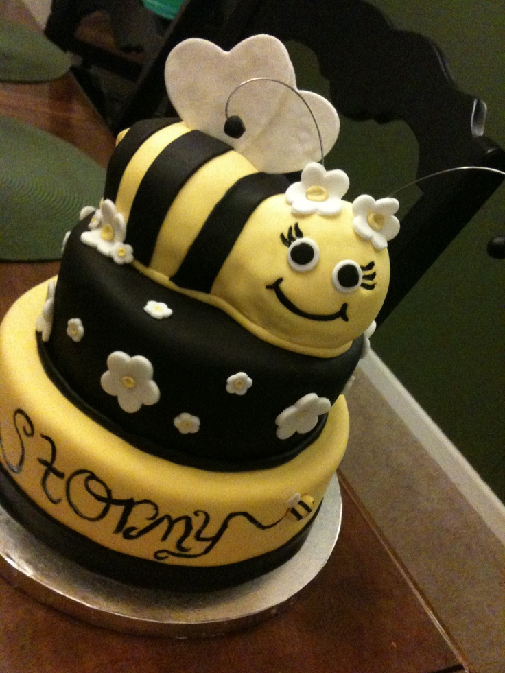 Bumble Bee Birthday Cake Cake Pinterest Bumble Bees