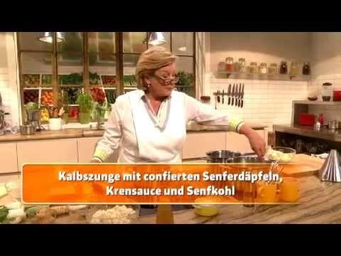 Kalbszunge mit confierten Senferdäpfeln, Krensauce und Senfkohl (Lisl Wagner-Bacher) - YouTube. Hier gibt es das Rezept: https://www.billa.at/Frischgekocht_ONLINE/Frisch_Gekocht/Rezepte/Rezept_Detail/Recipe_Detail/FgContent.aspx?Rezept=24314&Kalbszunge_mit_confierten_Senferdaepfeln,_Krensauce_und_Senfkohl