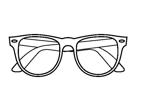 Coloring Pages Of Glasses Elegant Sunglasses Coloring Page
