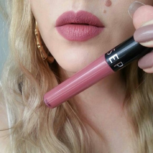Sephora Cream Lip Stain Only swatched, not my type of color. Shade in MARVELOUS MAUVE. A mauve pink. Matte lipstick. Cream matte lipstick. Everything in my closet is at its lowest price, but if you bundle with other items I will give a discount NO TRADES #happyposhing Sephora Makeup Lipstick