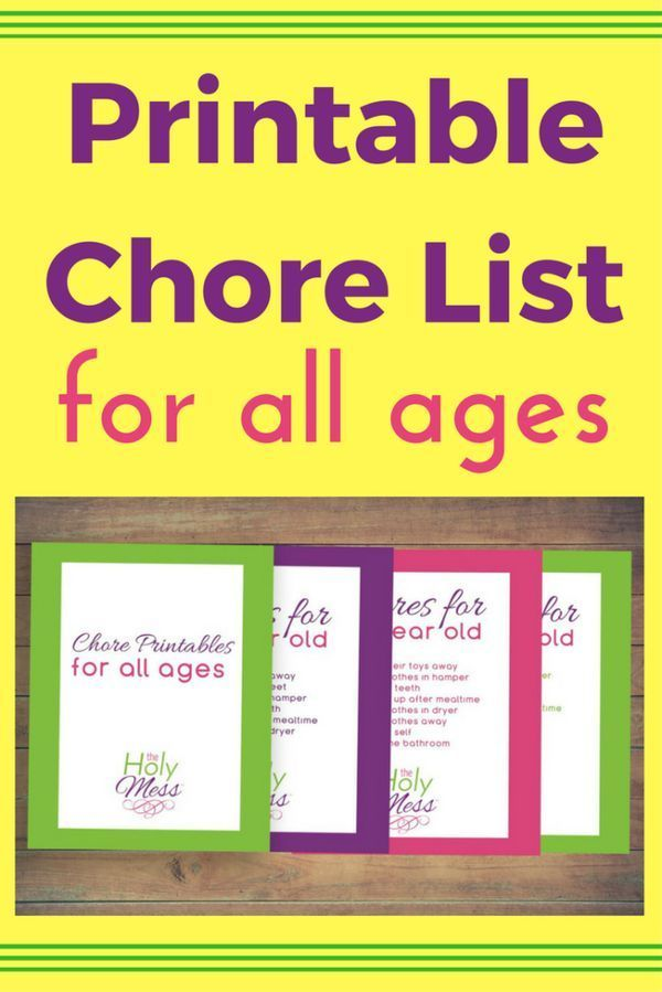 63 best Free Printable Chore Charts images on Pinterest Free - sample chore chart