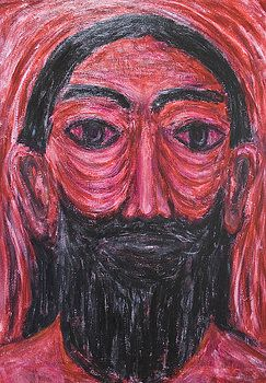 Kazuya Akimoto - Red Jesus in Gethsemane