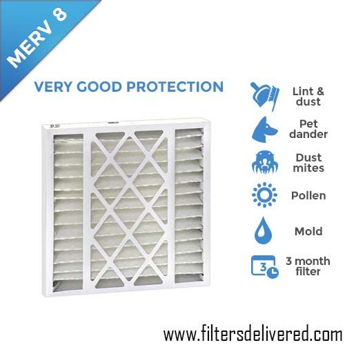 Furnace Filter Sizes 16X25X5 MERV 8 AIR FILTER FOR AC  Online Available