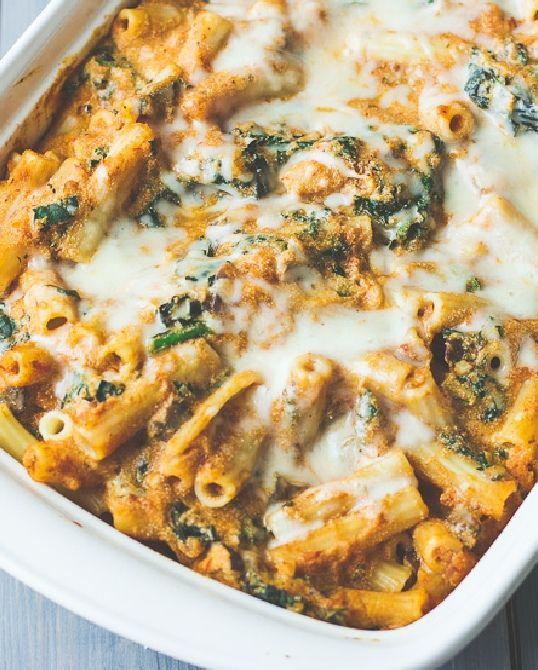 Easy spinach and pasta casserole recipe