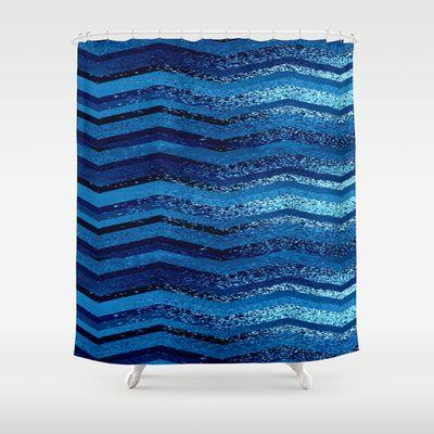 Sparkly And Dark Blue Adventure Shower Curtain Blue Dark And Showers