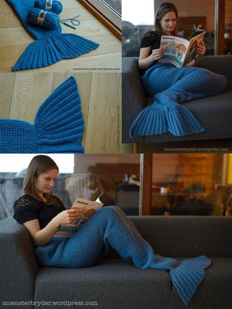 Hækl selv: Et havfruehale tæppe - Hendes Verden
