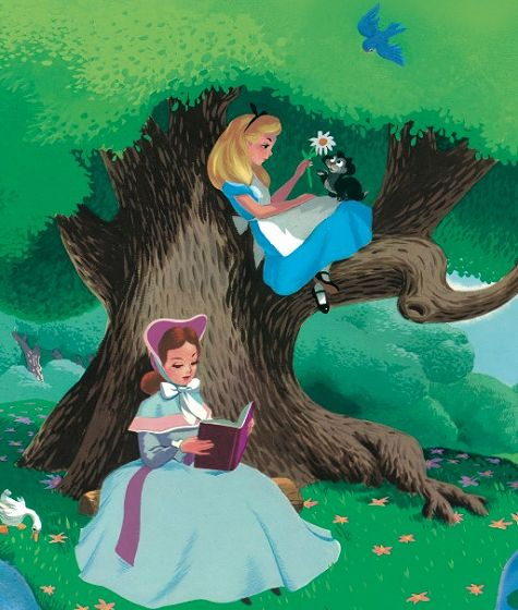 Alice and her sister: Dinah Alice In Wonderland, Wonderland 1951, Books Art, Concept Art, Art Alice In Wonderland, Mary Blair Alice In Wonderland, Absolutey Alice, Disney Movie, Disney Alice In Wonderland Art