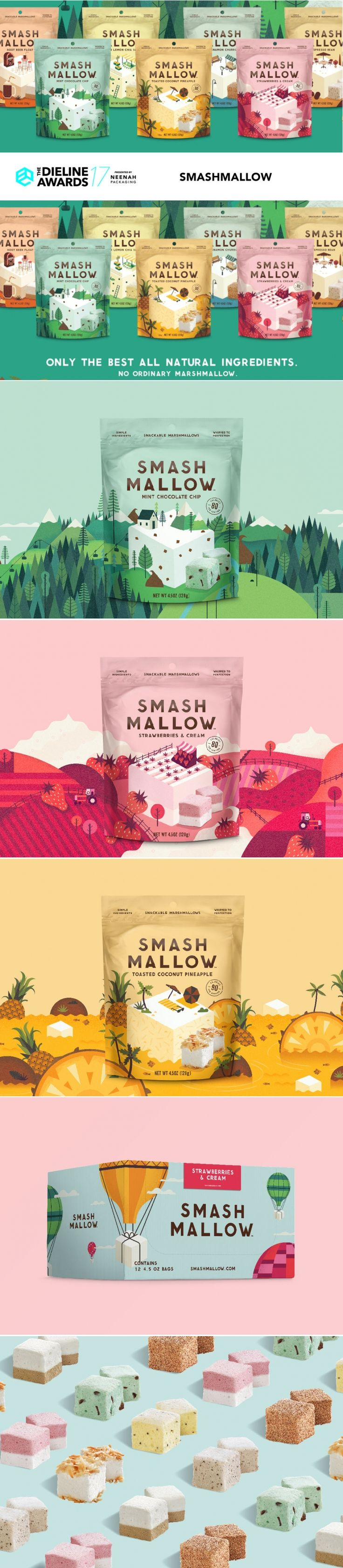 The Dieline Awards 2017 Outstanding Achievements: Smashmellow — The Dieline | Packaging & Branding Design & Innovation News