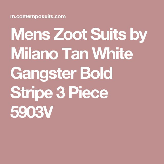 Mens Zoot Suits by Milano Tan White Gangster Bold Stripe 3 Piece 5903V