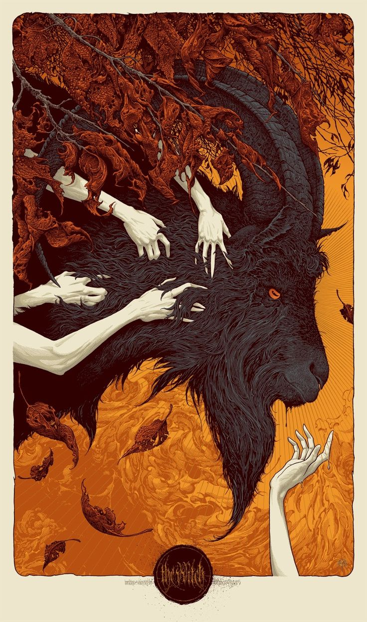 "kogaionon: "" The VVitch (regular edition) by Aaron Horkey 23"" x 39"" 10 color screen print on 100# French Construction Whitewash stock, signed & numbered regular edition of 350. The poster was..."