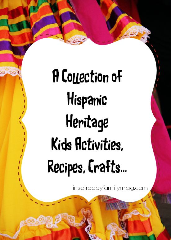 Spanish books for kids, Spanish acrivities for kids. Wonderful collection of Hispanic heritage month activities here! http://inspiredbyfamilymag.com/2013/09/16/hispanic-heritage-month-activities/