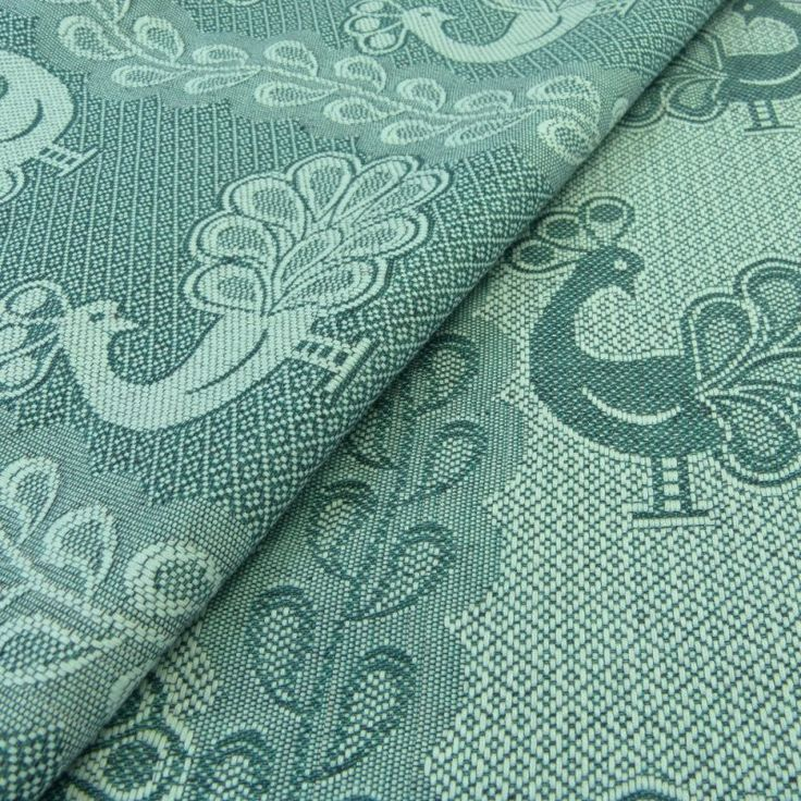 Didymos Peacock Seagreen Linen.  Fabric: 75% Organic Cotton, 25% Organic Linen  Surface weight: 230 g/m²  Age of child: From newborns to toddlers