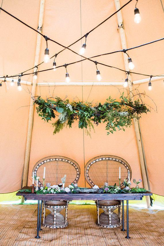 Bohemian wedding inspiration | Glamping wedding | 100 Layer Cake                                                                                                                                                     More