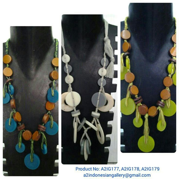 Necklace made of wood. More of our beautiful unique and fashionable products please follow us on the instagram @a2indonesiangallery. Contact us at a2indonesiangallery@gmail.com, Whatsapp +6287861891249, Line a2indonesiangallery, BBM 5A75889F. All of the products are cheapest price for retail and wholesale. We ship worldwide.