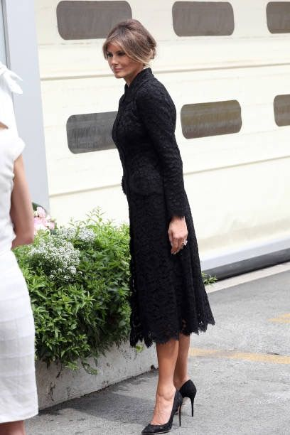 News Photo : United States First Lady Melania Trump visits the.