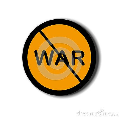 Sign of the anti-war background with white background, peace