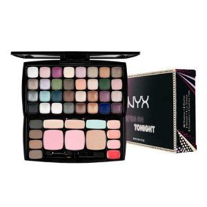 NYX Cosmetics Waiting for Tonight 46 Colors Makeup Kit Palette with Eye Shadows , Concealers, Eyebrow Powders, Blushers, Lip Glosses S127 by NYX. $23.30. S127. The sky's the limit with this versatile palette. 32 highly pigmented shades, 2 complimenting blushes, 1 bronzer, 4 eyebrow powders, 3 concealers, 4 chic lip glosses.  Take your daytime look into a sassy goddess of the night look with one handy palette.