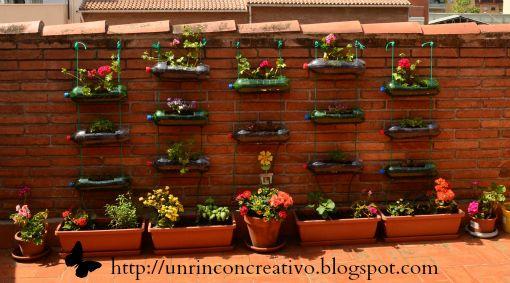 Un Rincón Creativo: CÓMO HACER UN HUERTO COLGANTE CON BOTELLAS DE PLÁSTICO RECICLADAS